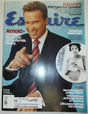 Esquire Magazine Arnold Schwarzenegger & Phil Spector July 2003 WITH ML 031015R