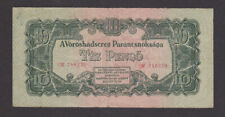 10 Pengo Fine Banknote From Soviet Red Army Occupied Hungary 1944 Pick-M5