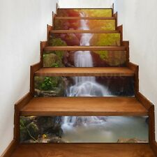 3D Waterfall Stair Risers Decoration Photo Mural Vinyl Decal Wallpaper Sticker