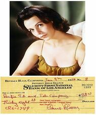 CLAIRE BLOOM  Genuine Early Hand Signed Cancelled Bank Cheque / Check  1958