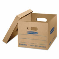 Bankers Box SmoothMove Classic Small Moving Boxes 15l x 12w x 10h Kraft/Blue 10