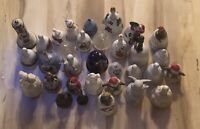 Huge Lot Of 32 Collectible Assorted Bells Ceramic, Glass, Porcelain, Metal