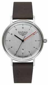 Bauhaus Men's Brown Italian Leather Strap   Silver 2140-1 Watch
