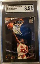1993-94 Stadium Club #1 Michael Jordan Triple Double SGC 8.5 HOF Chicago Bulls