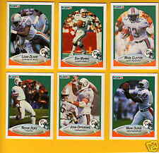 1990 Fleer Miami Dolphins Set DAN MARINO MARK CLAYTON REGGIE ROBY JOHN OFFERDAHL