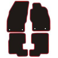 Vauxhall Corsa D & E Tailored Car Mats 2007 Onwards Black With Red Edging