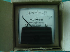 DC Ammeter GE Panel Mount Analog Meter DC 0 - 2 Killoamps requires xternal shunt