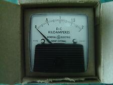 DC Ammeter GE Panel Mount Analog Meter DC 0 - 2 Killoamps requires xternal shunt