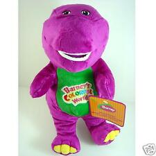 "Barney The Dinosaur 11"" Purple Plush Soft Toy Doll can sing : I LOVE YOU song"