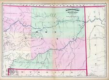 Montana 102 maps old state Panoramic genealogy Dvd History