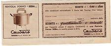 """BUONO SCONTO PER ACQUISTARE PENTOLA FORNO """" SEBA """" CAUDANO TORINO  3-365"""