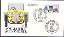 BRD 1986: 100 Jahre Auto! FDC der Nr. 1268 mit zwei Bonner Sonderstempeln! 1A!