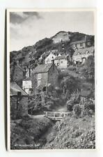 Runswick Bay - houses on cliffs - old Yorkshire postcard