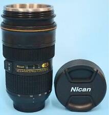 New Camera Nican Lens AF-S 24-70mm Coffee Travel Mug Thermos Stainless Cup 12oz