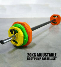 New Aerobic Body Pump Barbell Set Tri Grip Plate Weight Strength Group Fitness