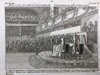 Louis 16 à l'assemblée Nationale 1790 Saint Cloud Révolution Française Paris