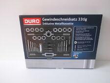 DURO Gewindeschneidsatz 33 tlg. inkl. Metallkassette Gewindeschneider / NEU- OVP