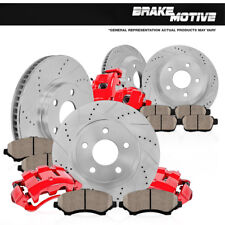 Front And Rear Brake Calipers & Rotors +Pads For 2007 2008 - 2015 Toyota Tundra