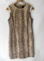 DAVID LAWRENCE stunning Snake Print Pencil Dress Size 12