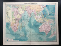 Antique Map Of Indian Ocean Communications  1926