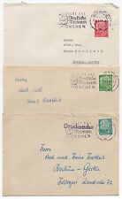 1957 GERMANY - 3 x Covers BONN To BOCHUM-GERTHE & BAUU 3 Values Museum Slogan