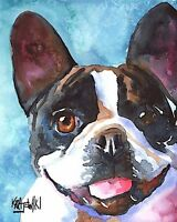 French Bulldog Art Print from Painting   Frenchie Gifts, Poster, Picture 8x10