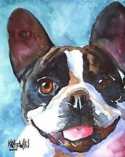 French Bulldog Art Print from Painting | Frenchie Gifts, Poster, Picture 8x10