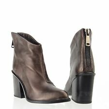 Diesel Ozys Women's Shoes Brown Leather Heeled Ankle Boots Size EU 38 NEW!