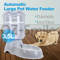 3.5L Automatic Pet Feeder Dispenser Waterer Dog Cat Self Feeding Food Water Bowl