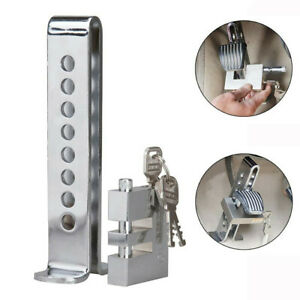 Universal Car Anti-Theft Security Accessories Clutch Brake Lock Chrome w/ 3 Keys