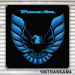 Pontiac Trans Am Banner Sign Blue