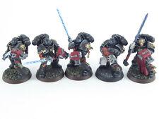5 Mann Strike Squad der Grey Knights - gut bemalt -