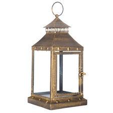 Decorative Bronze Lantern LED Candle Holder