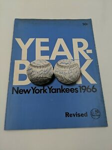 1966 New York Yankees First-Edition Yearbook w/Mickey Mantle EXC condition