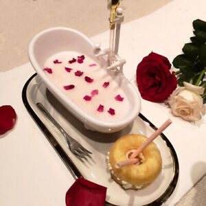 Creative Tableware Drink Cup Milkshake Cold Drink Dish White BathtubB'BI