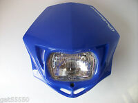 ENDURO ROAD LEGAL POLISPORT BLUE HEADLIGHT STREETFIGHTER DTR DRZ RMZ DR XT YZF