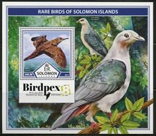 SOLOMON ISLANDS 2017  BIRDPEX RARE BIRDS OF SOLOMON ISLANDS S/SHEET MINT NH