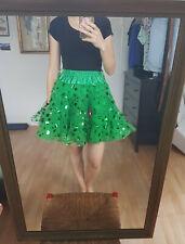 Petticoat, grün, glitzer, Größe M/L, Karneval oder Kostüm