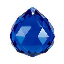 Cobalt Blue Crystal Ball Prism Pendant Suncatcher, 40mm
