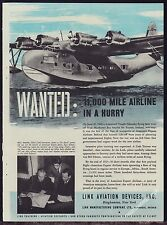 1944 VOUGHT SIKORSKY VS-44 Flying Boat American Export Airlines Link Aviation AD