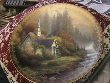 """Thomas Kinkade Collectible Plate """"Forest Chapel�"""
