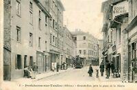 PONTCHARRA SUR TURDINE Grande Rue près la Place de la Mairie Train en ville