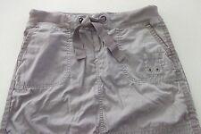 Vintage Gray GAP Cotton ZIP FRONT Snaps Drawstring Pockets MINI SKIRT/Size XS