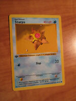 LP 1st edition Pokemon STARYU Card BASE Set 65/102 First ed Shadowless WOTC