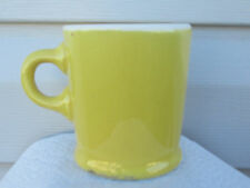 VINTAGE 1960'S Hycroft Pottery Medicine Hat Alberta YELLOW HOT CHOCLATE MUG