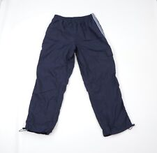 Vintage 90s Fila Mens Large Lined Striped Adjustable Cuffed Joggers Pants Blue