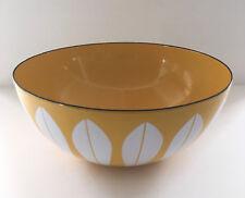 "vintage CATHRINEHOLM 9.5"" yellow LOTUS BOWL - enamelware norway catherineholm"