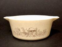 Vintage Pyrex Forest Fancies Casserole Dish 2.5 Quart Bowl Mushroom  475 B Vtg.