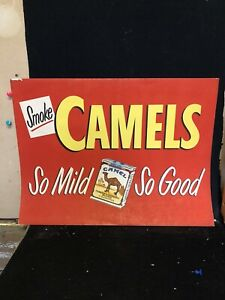 "1951 28"" Camel Cigarette Sign"