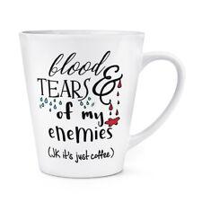 sang et Tears of Mon ennemies café 341ml Latte Tasse - plaisanterie amusante